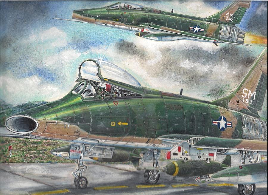 Landscape Drawing - Super Sabre by James Beal