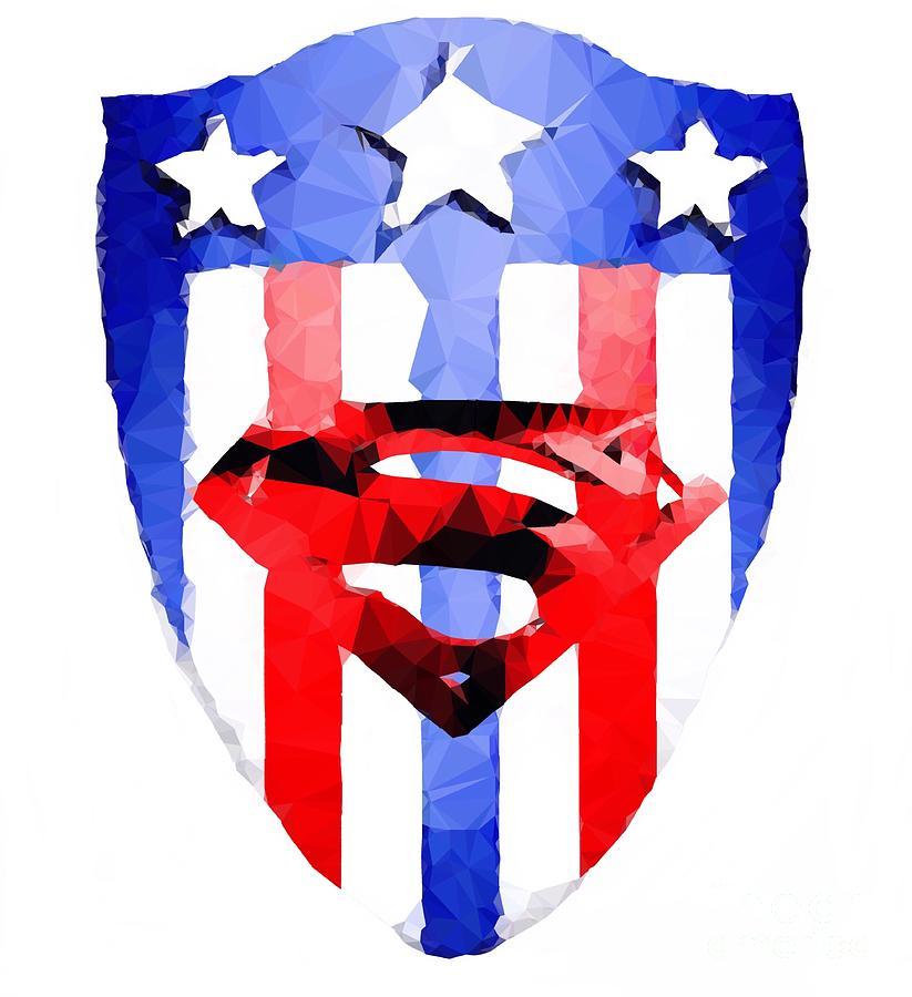 Super Shield Digital Art by HELGE Art Gallery