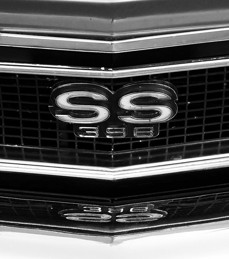 Classic Cars Photograph - Super Sport Logo by Linda McAlpine