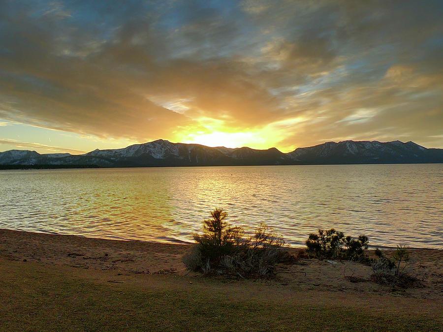 Superbowl Sunday Lake Tahoe Sunset - Lake Tahoe - Nevada Photograph
