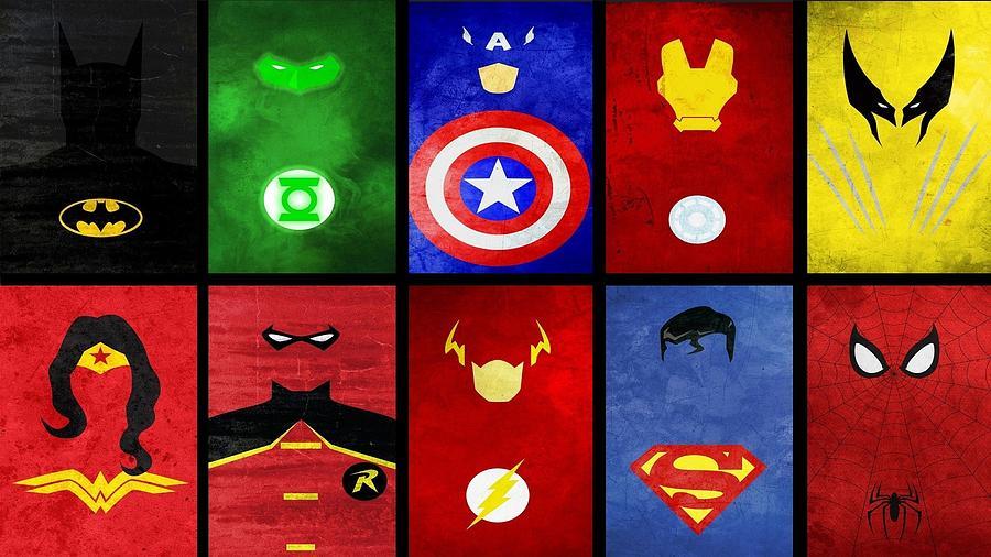 Superheroes collage-25070 by Jovemini ART