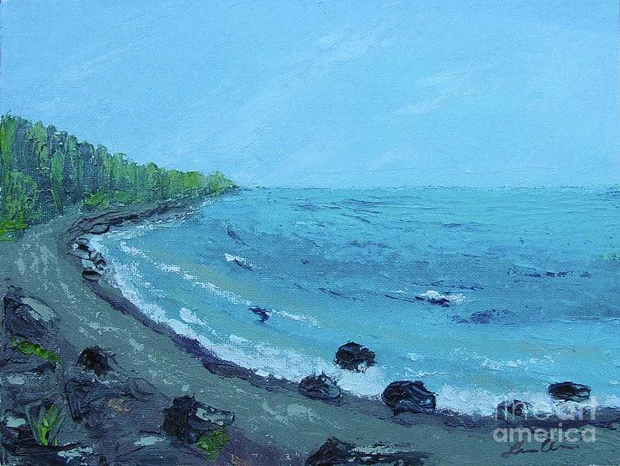 Lake Superior Painting - Superior Coast 1 by Lilibeth Andre