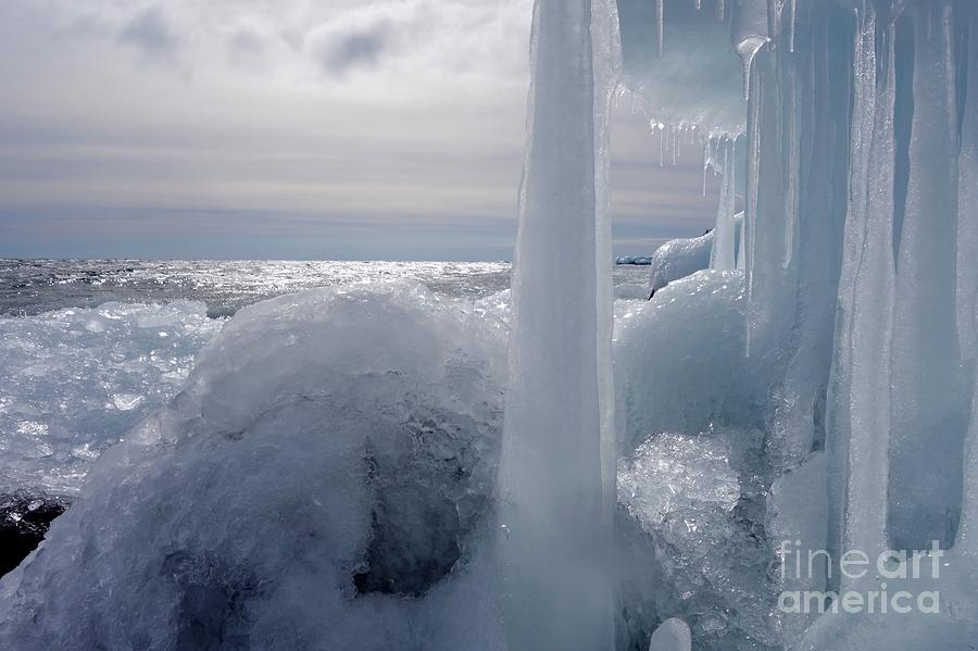 Ice Photograph - Superior March Day by Sandra Updyke