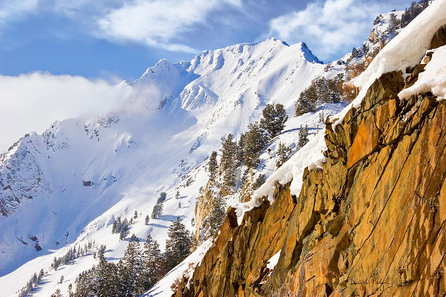 Snow Photograph - Superior Peak In The Utah Wasatch Mountains  by Utah Images
