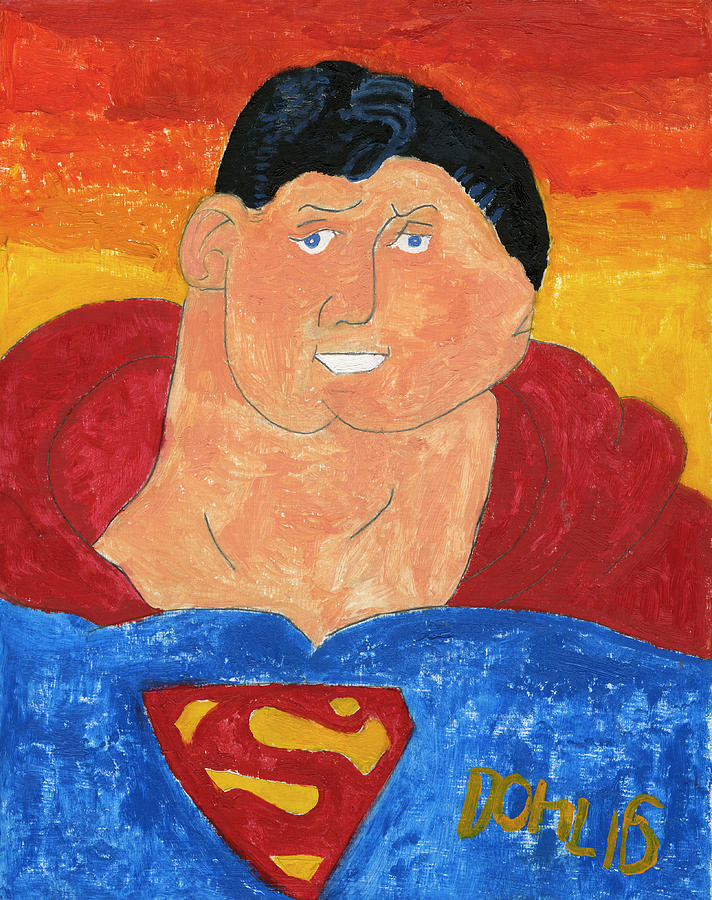 Superman Painting - Superman by Don Larison