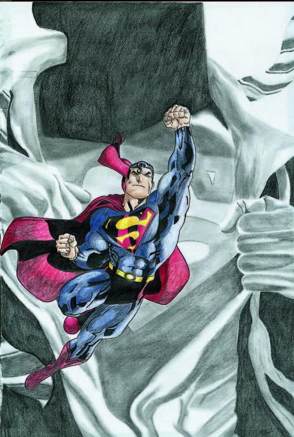 Comic Book Drawing - Superman by Jason McRoberts