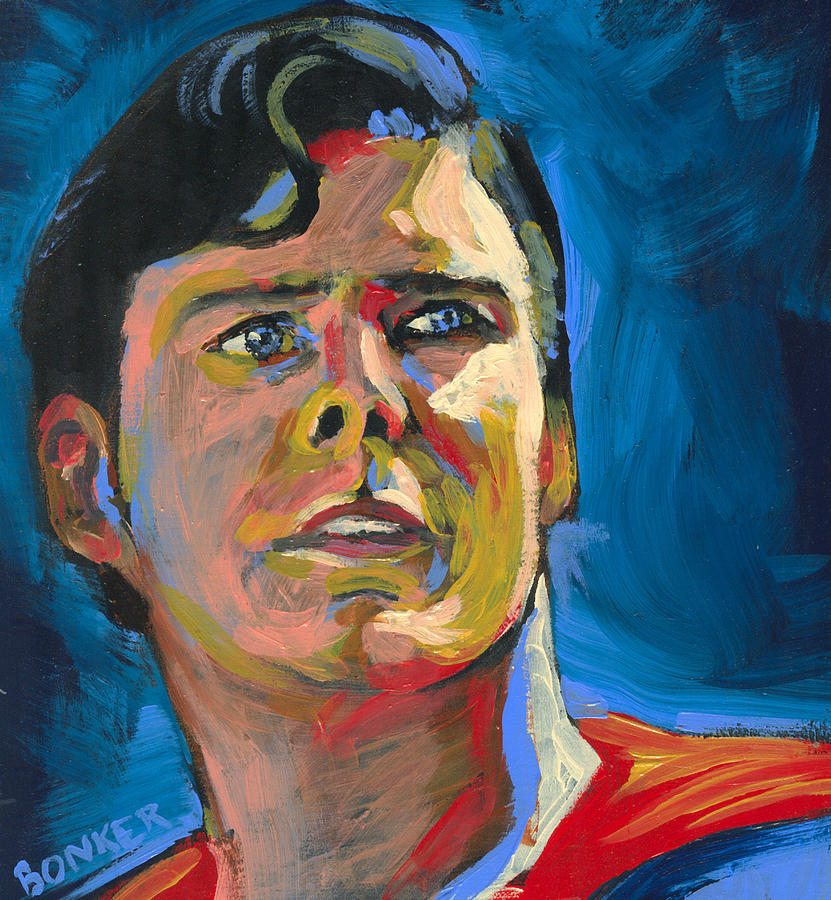 Christopher Reeves Painting - Superman by Buffalo Bonker