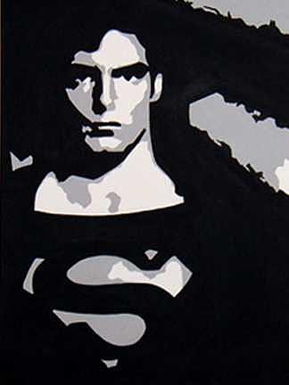 Superman Painting - Superman by Michael James  Toomy