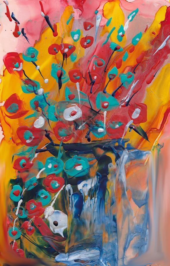 Floral Painting - Supermarket Flowers by Bonny Butler