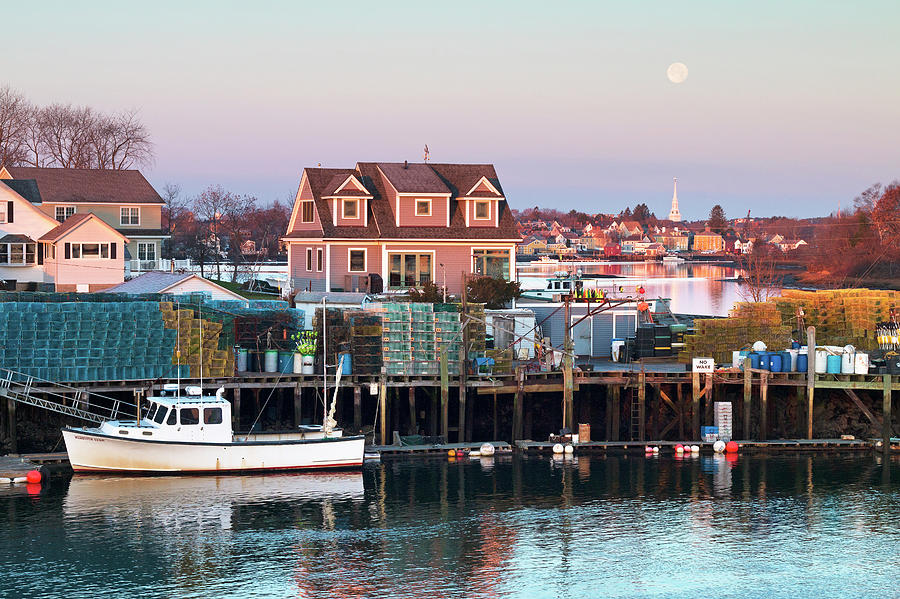 Portsmouth Photograph - Supermoon Over Shapleigh Island Portsmouth by Eric Gendron