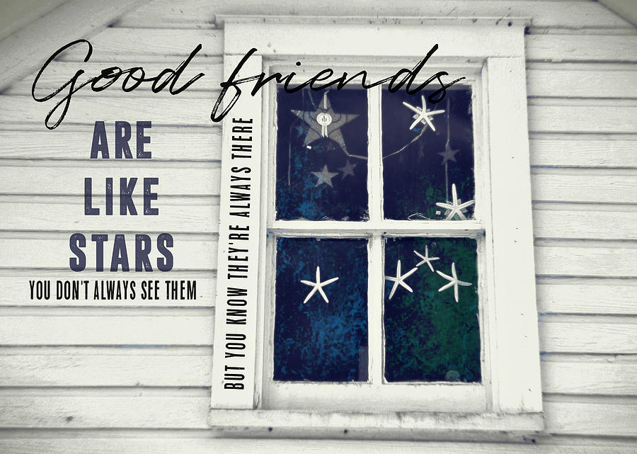 Window Photograph - Superstars Quote by JAMART Photography