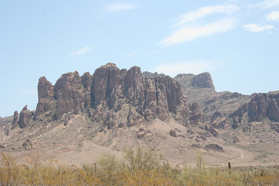 Mountain Photograph - Superstition Mountain by Gregory Jeffries