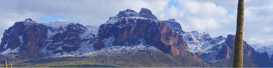 Superstition Mountain snowfall by Broderick Delaney