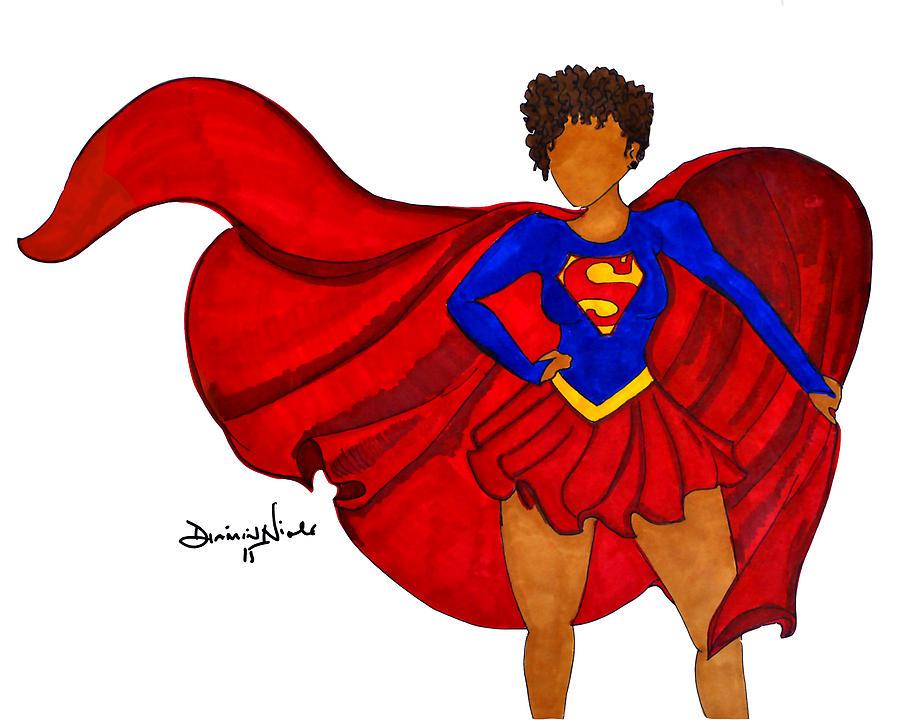Superhero Photograph - Superwoman I Am  by Diamin Nicole