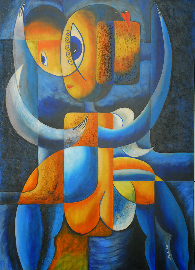 Abstract Expressionism Painting - Suplication by Marta Giraldo