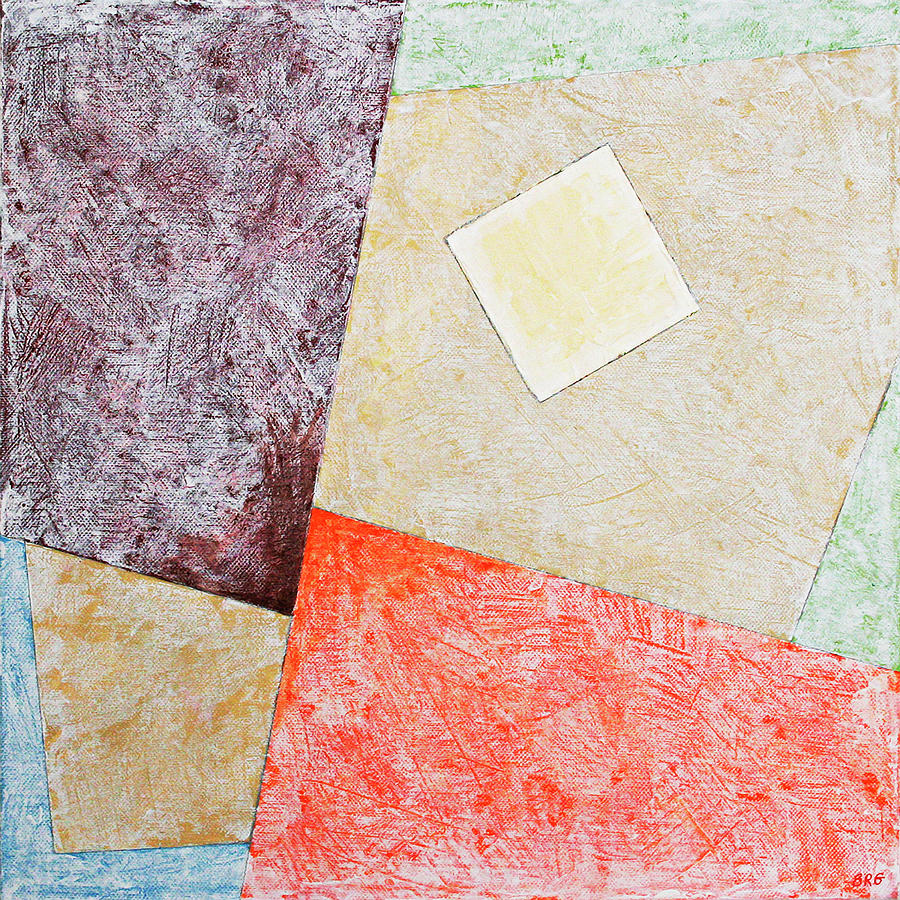 Suprematist Composition No 1 With A Square by Ben Gertsberg