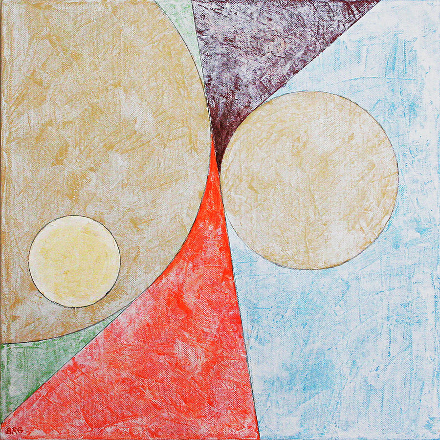 Suprematist Composition No 2 With A Circle by Ben Gertsberg