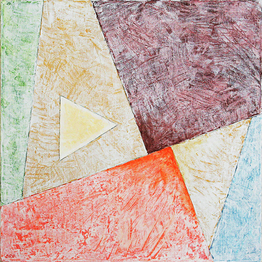 Suprematist Composition No 3 With A Triangle by Ben Gertsberg