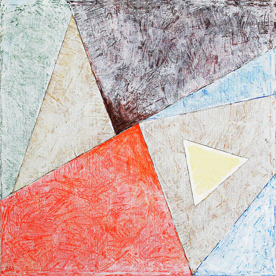 Suprematist Composition No 4 With A Triangle by Ben Gertsberg