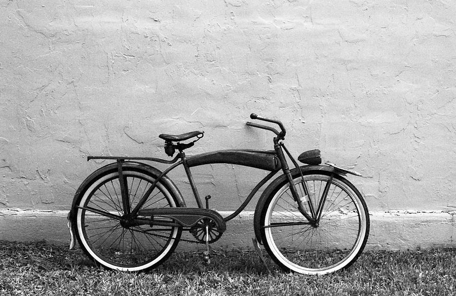 Vintage photograph supreme vintage bicycle by kathy hunt