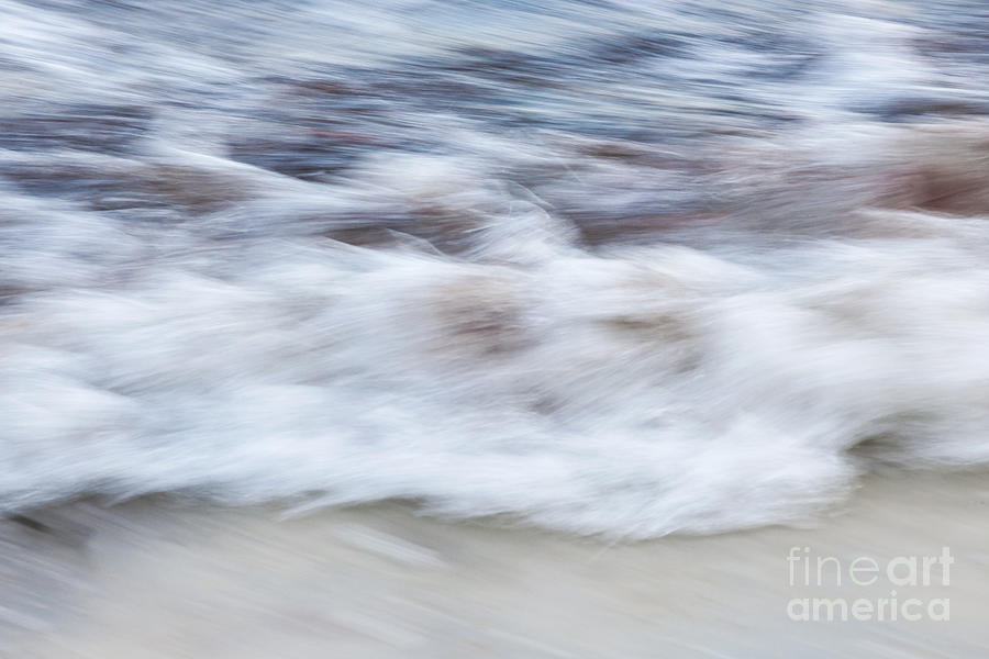Wave Photograph - Surf Abstract 2 by Elena Elisseeva