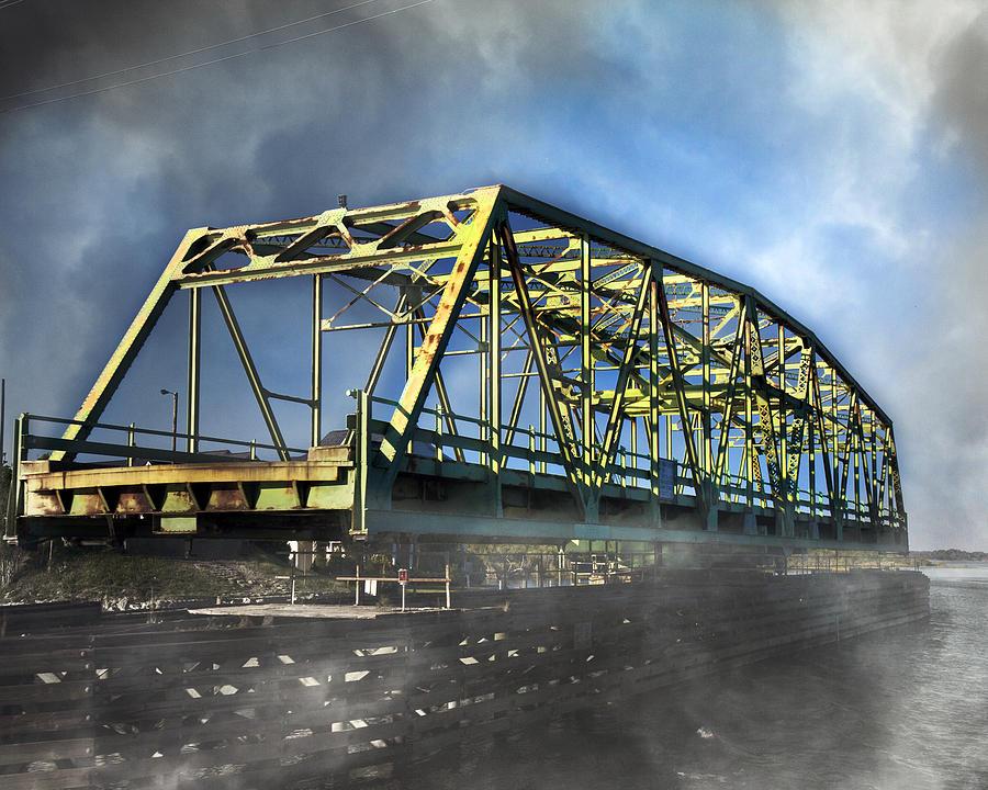 Topsail Photograph - Surf City Nc Swing Bridge by Betsy Knapp