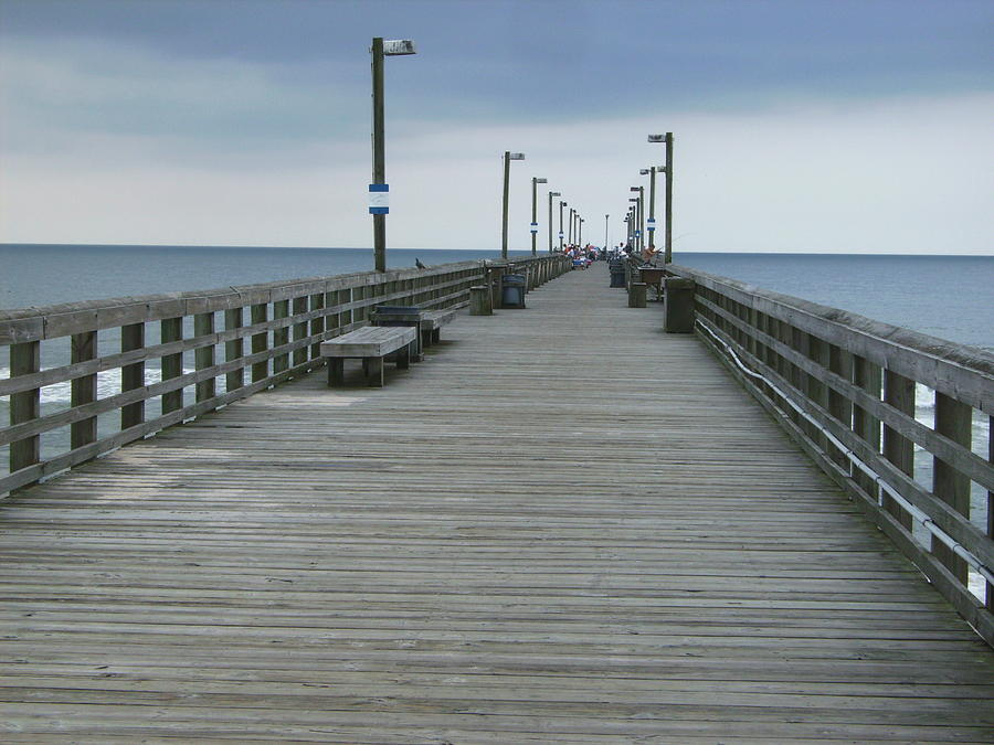 surf city pier photograph by erik kieffer