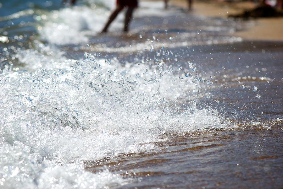 Shore Photograph - Surf Crashing by Lisa Knechtel