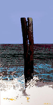 Seascape Painting - Surf by Greg Leonard