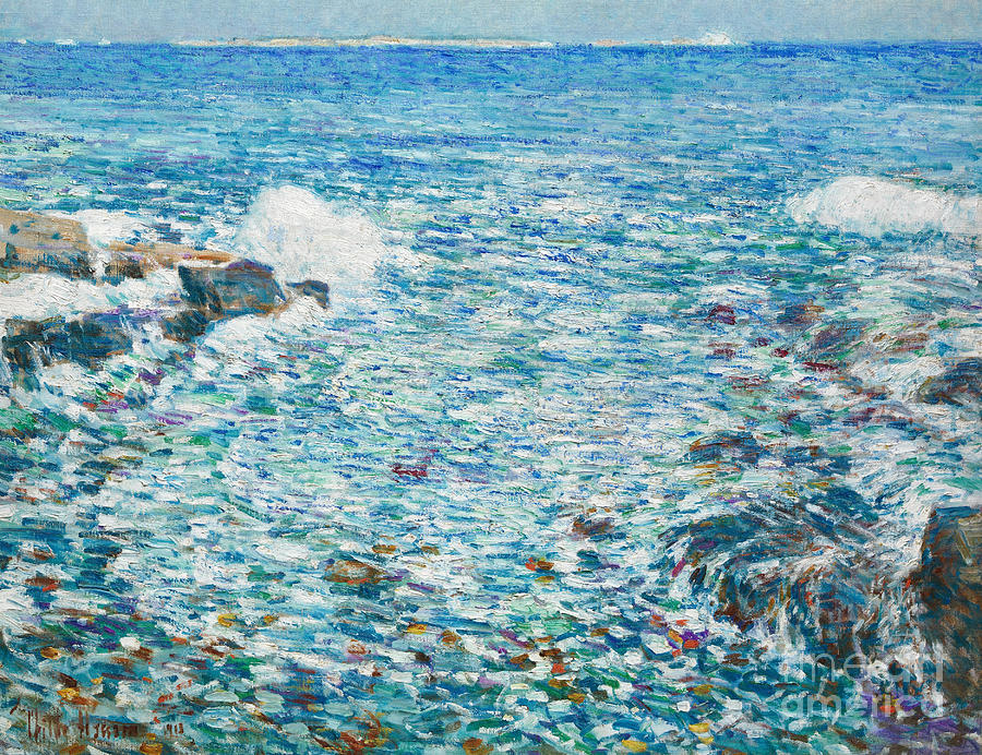 Surf Painting - Surf, Isles Of Shoals, 1913 by Childe Hassam