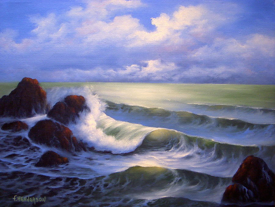 Surf Painting - Surf Melody by Francine Henderson