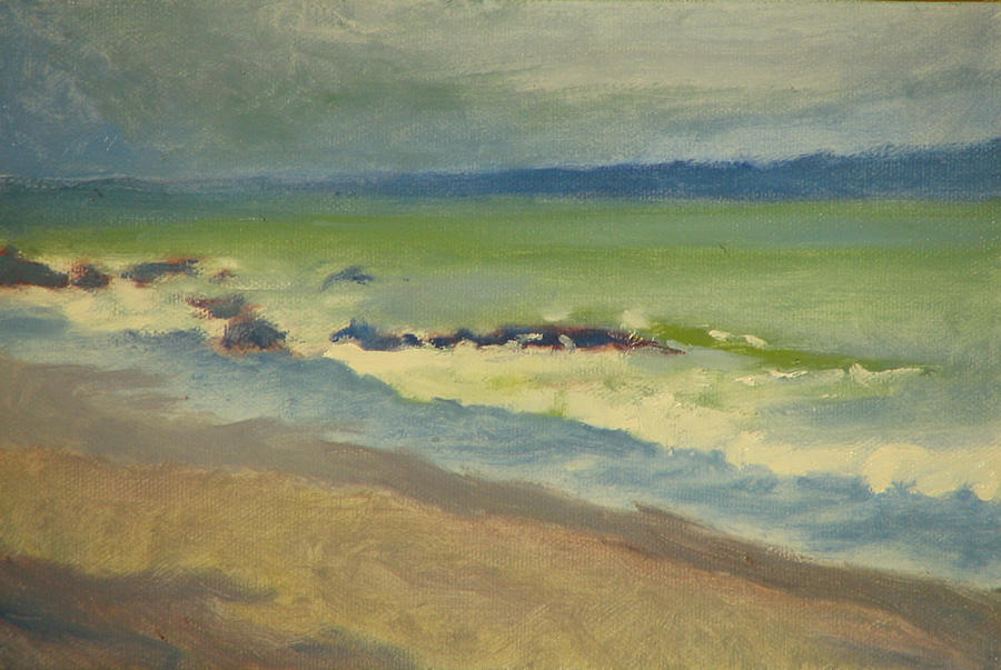 Ocean Painting - Surf by Robert Bissett