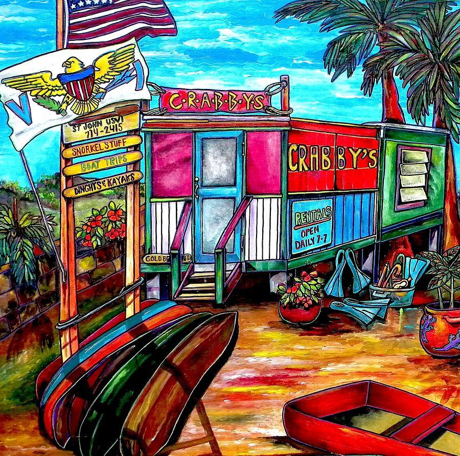 Caribbean Painting - Surf Shack by Patti Schermerhorn