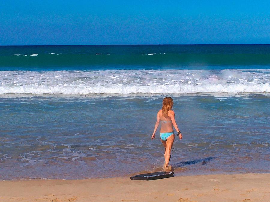 Ocean Photograph - Surf Up by Athala Carole Bruckner