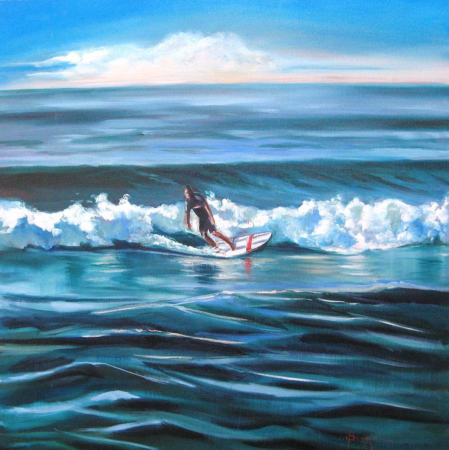 Seascape Painting - Surf by Yvonne Dagger