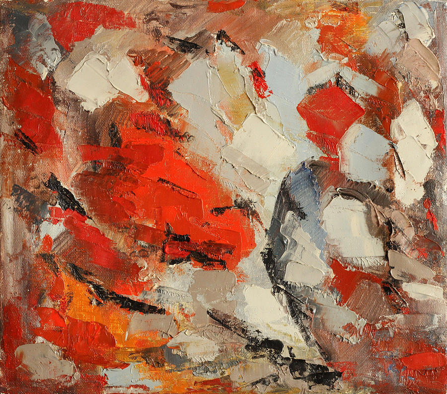 Abstract Painting - Surface by Natia Tsiklauri