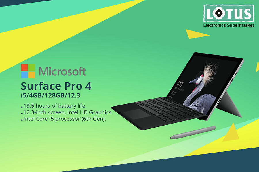 Surface Pro 4 Ultra-light And Versatile Laptop