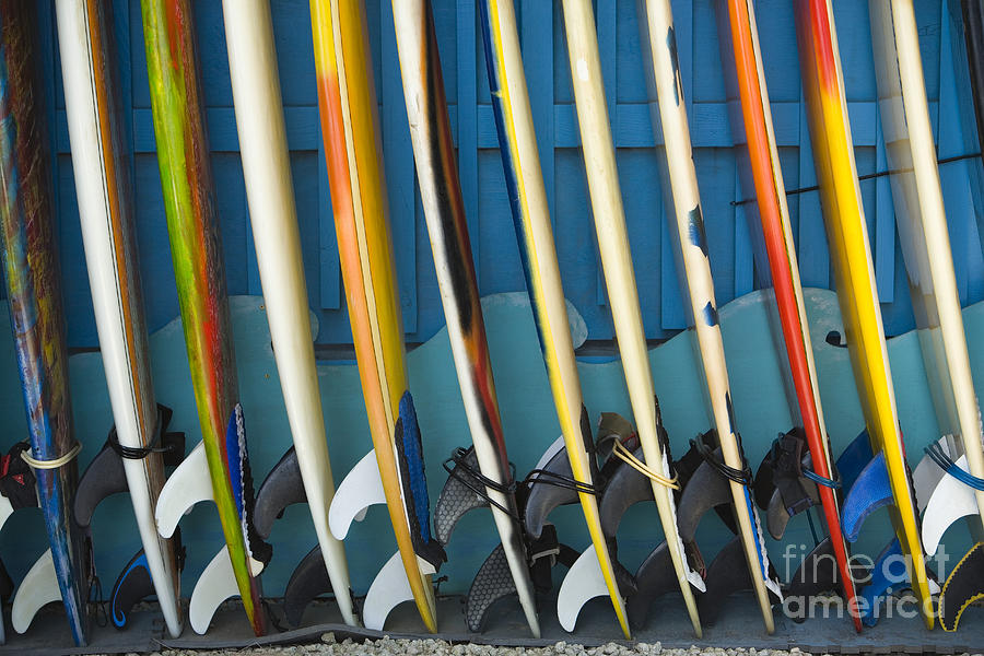 Afternoon Photograph - Surfboards by Dana Edmunds - Printscapes