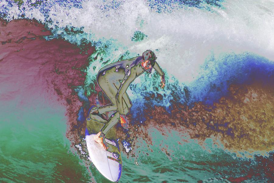 Surfer Photograph - Surfer 3 by Carol Tsiatsios