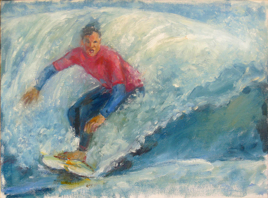 Surfer Painting by Bin Feng