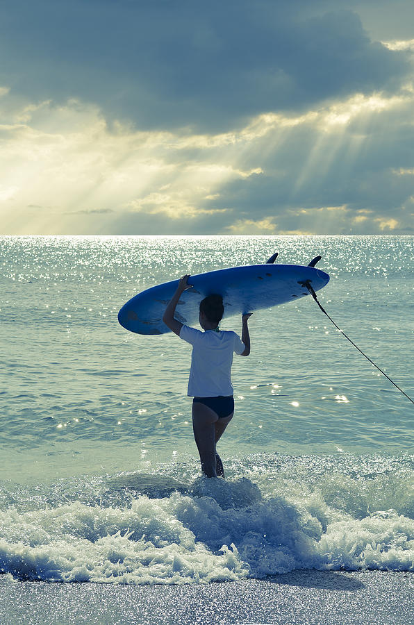 Surfer Girl Photograph - Surfer Girl by Laura Fasulo
