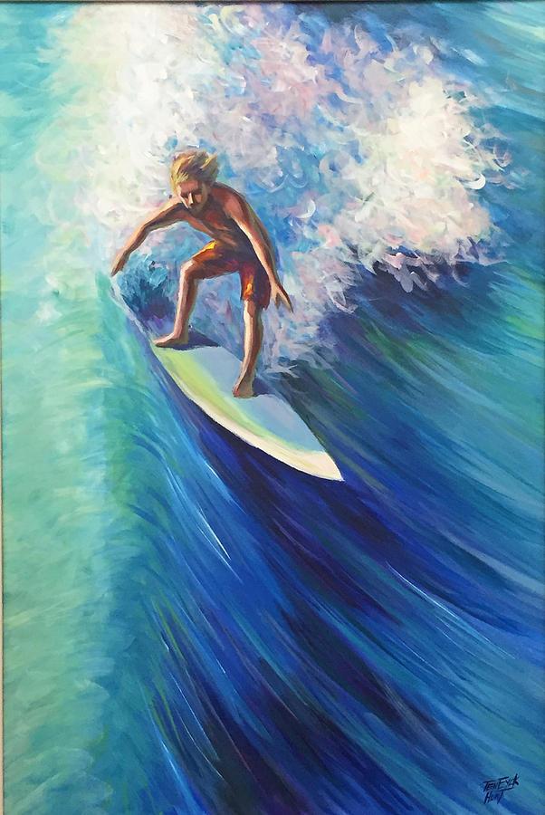 Surfer II by Gretchen Ten Eyck Hunt