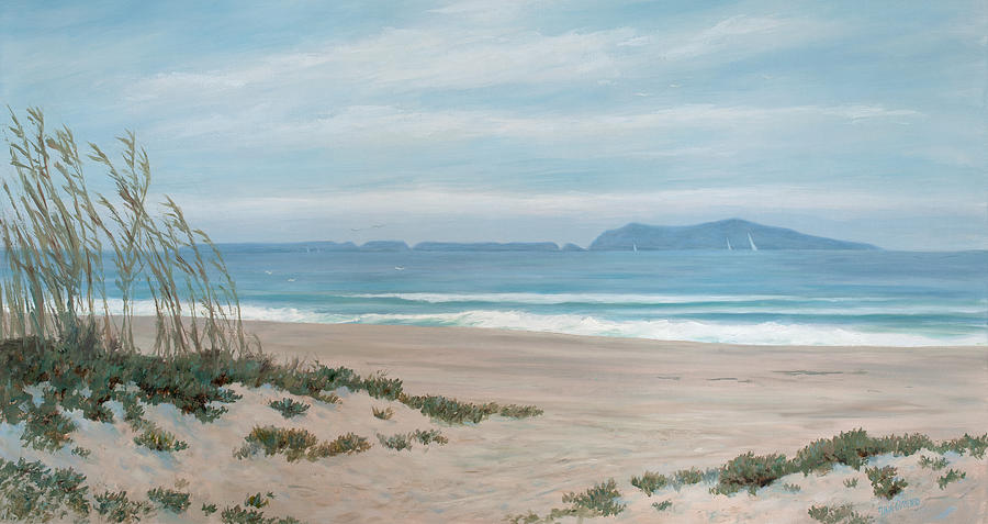 Beach Painting - Surfers Knoll Anacapa View #5 by Tina Obrien