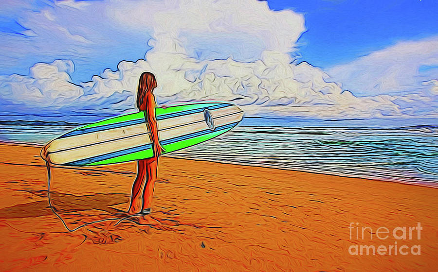 Surfing Photograph - Surfing 19518 by Ray Shrewsberry