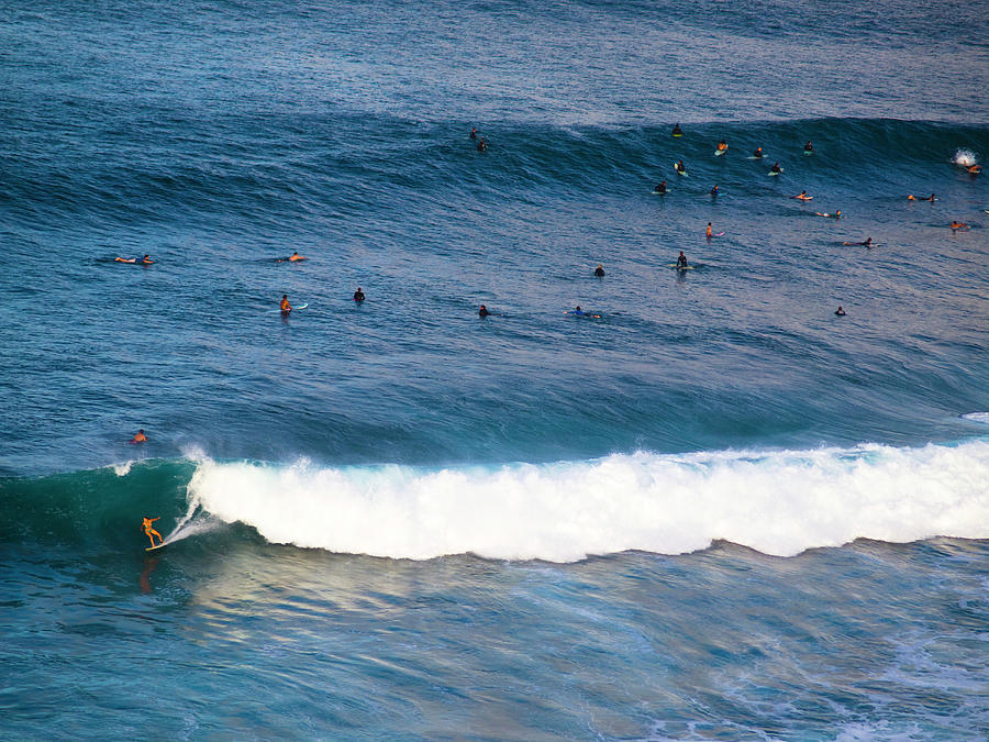 Surf Photograph - Surfing At Honolua Bay by Christopher Johnson