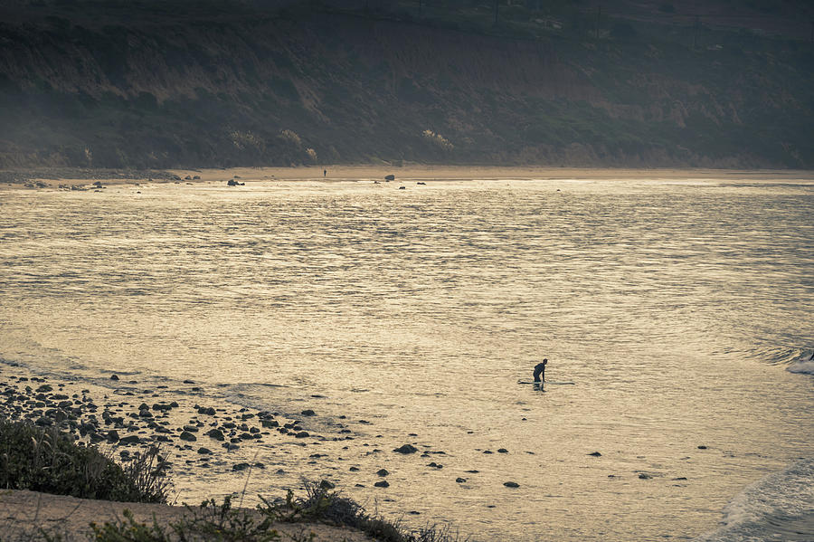 Beach Photograph - Surfing At Leo Carrillo Beach by Martin Alonso