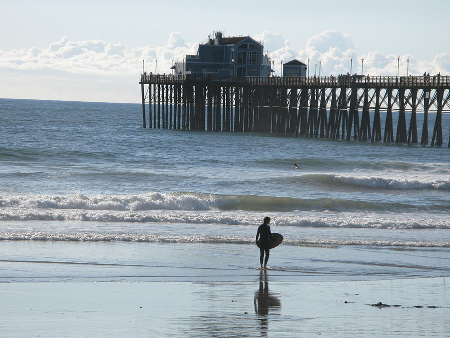 Surf Photograph - Surfing In San Clemente by John Loyd Rushing