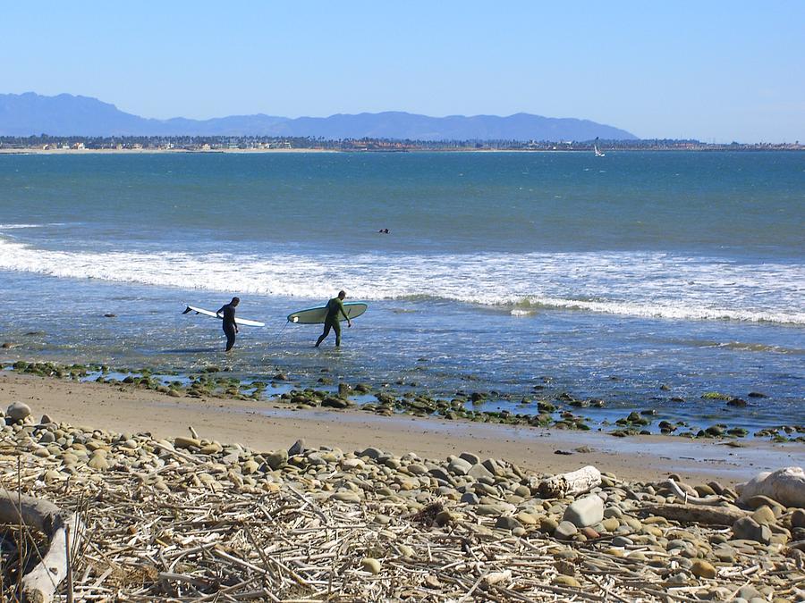 Beach Photograph - Surfing In Ventura Ca by Robin Hernandez