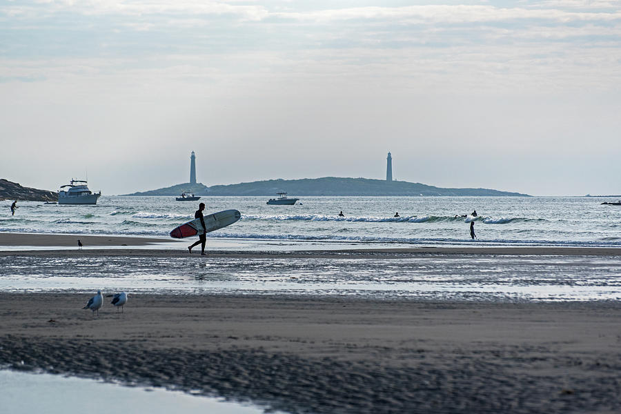 Gloucester Photograph - Surfing On Good Harbor Beach Gloucester Ma by Toby McGuire