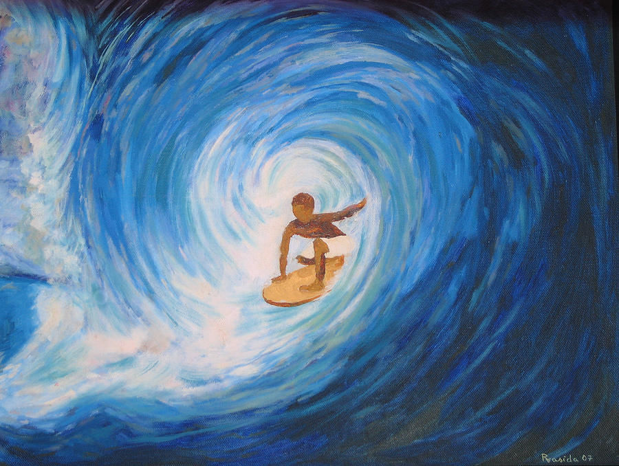 Surfing Painting - Surfing by Prasida Yerra